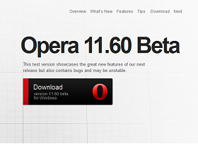 Opera 11.60 帶著「世界末日」HTML5 分析演算法提前現身