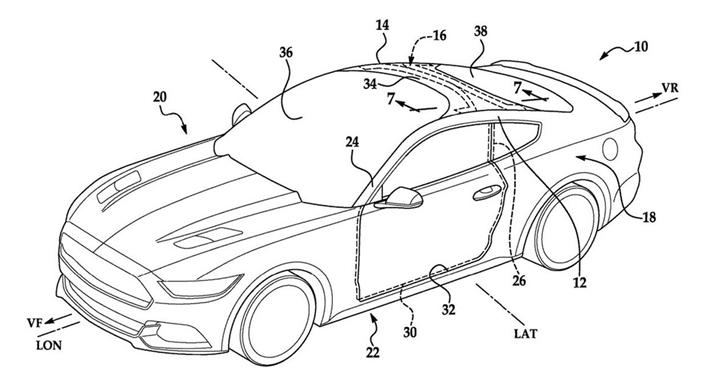 福特頂棚式擋風玻璃專利:讓更多陽光照進車內