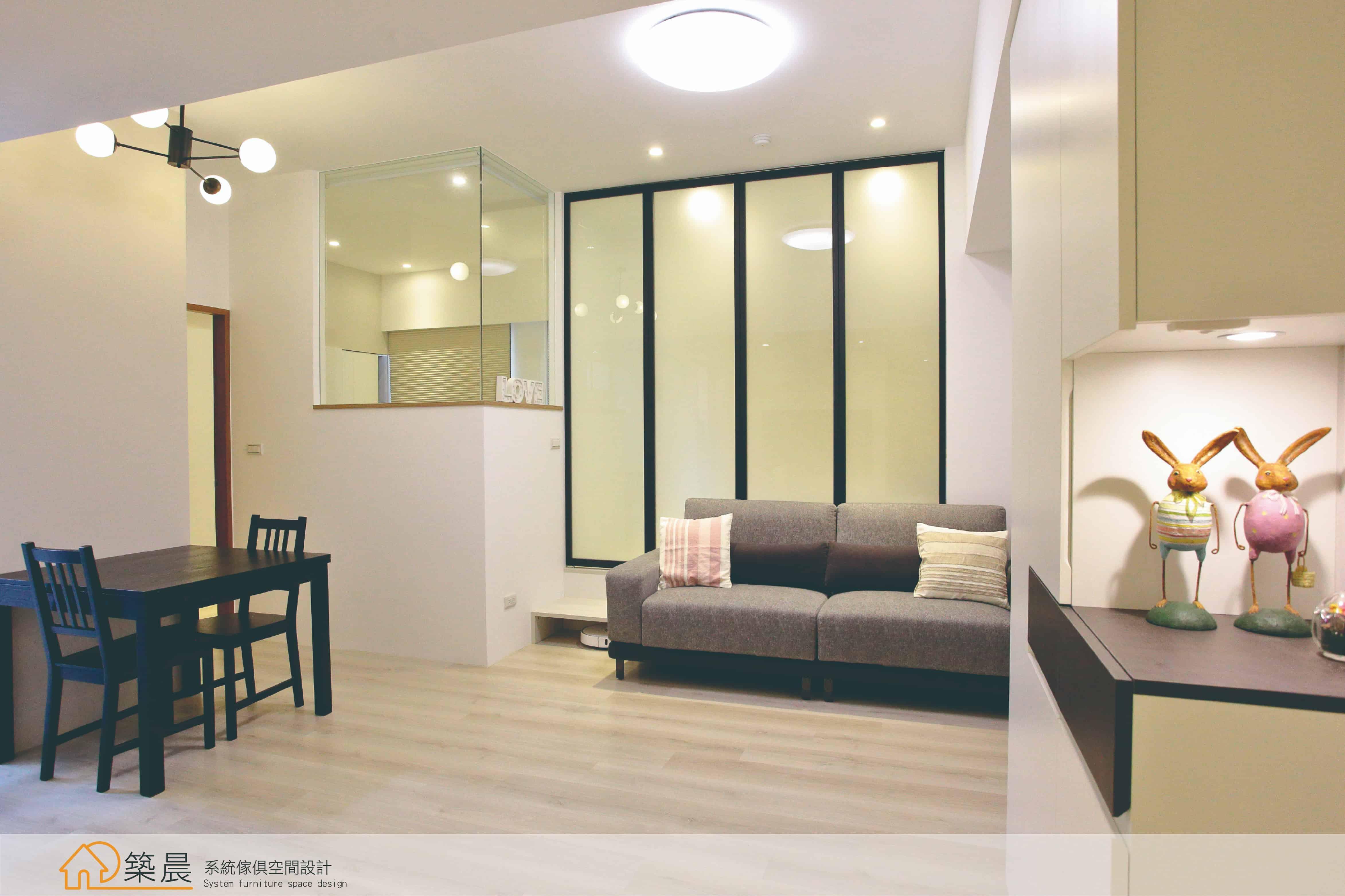 築晨現代簡約風的小空間大魔法!|築晨系統傢俱空間設計