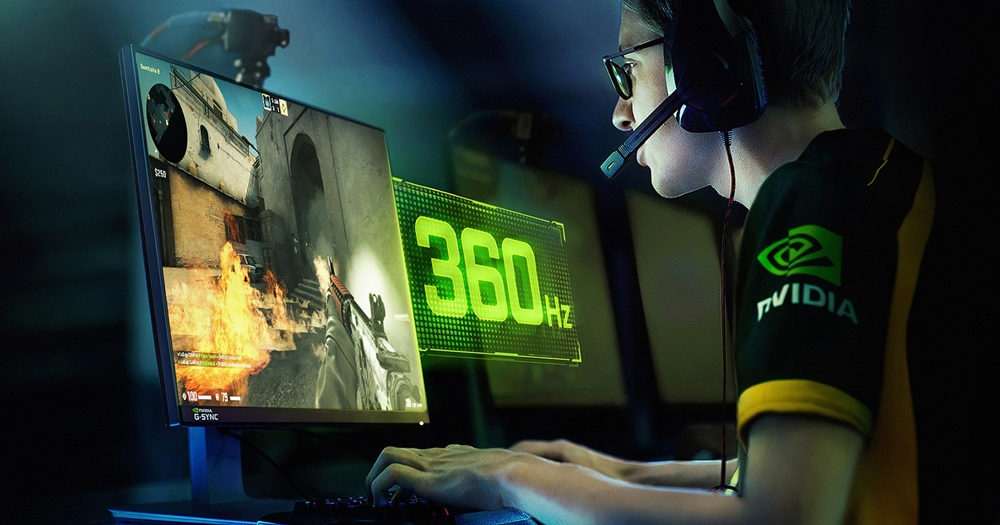 NVIDIA 聯手華碩推出新 G-SYNC 電競顯示器,專為競技類遊戲打造、更新率達 360Hz