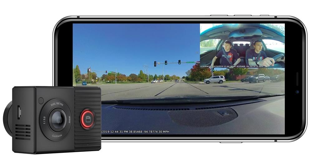 Garmin新的180 度雙鏡頭行車紀錄器 Dash Cam Tandem,不只錄影前方道路狀況也紀錄車內互動
