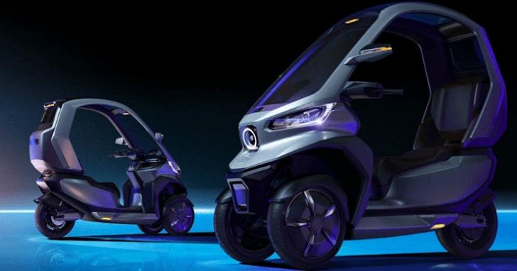 小牛電動機車推出全球首款自動駕駛三輪電動機車,防碰撞、自動停車、雙前輪自動平衡系統能防傾倒並回正