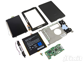 Kindle Fire 開賣,iFixit 上演拆解秀、與 iPad 2 效能比一比