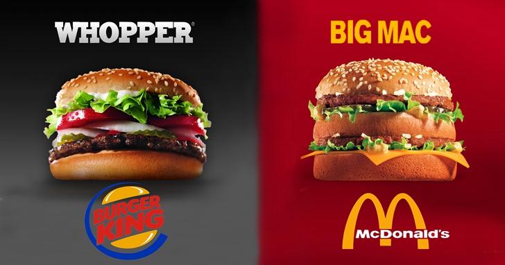 麥當勞VS漢堡王的廣告鬥嘴史,簡直就是相愛相殺的史密斯夫妻