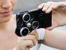 iPhone 多合一鏡頭組:用轉盤換鏡頭、從實拍照看效果
