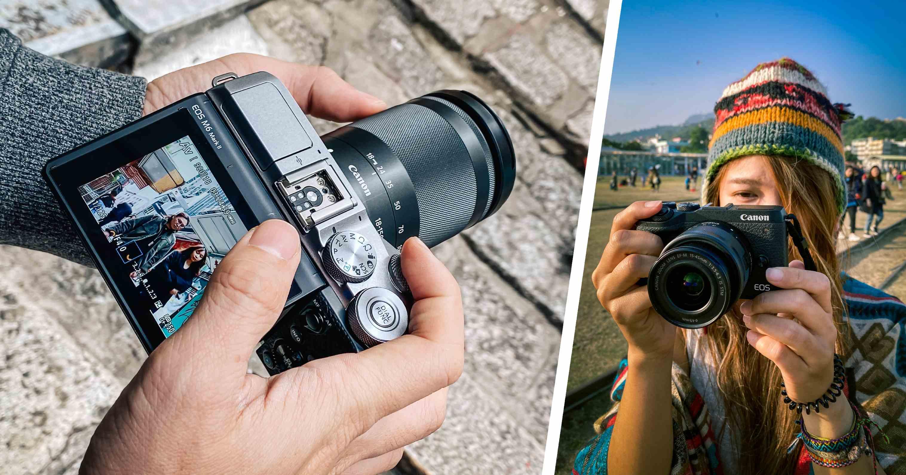 旅遊編輯張界聰 × 全職背包客安柏:Canon EOS M6 Mark II 微單眼使用心得分享