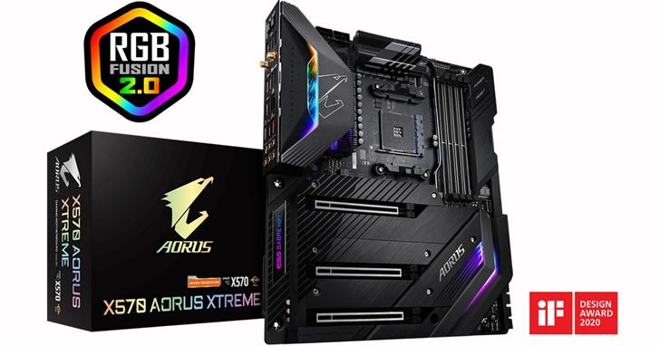 技嘉X570 AORUS XTREME主機板榮獲2020 iF設計獎