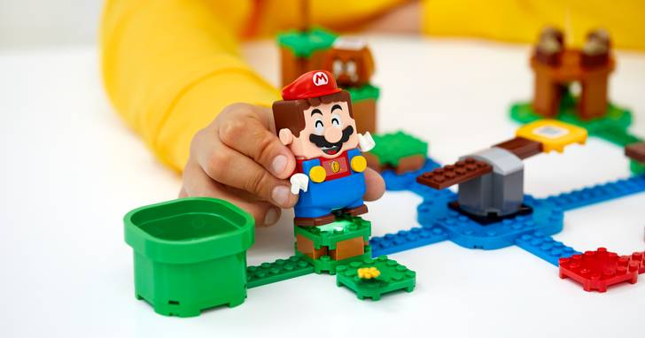 結合互動性玩法的「樂高超級瑪利歐」系列在台開放預購,還送限量超級蘑菇磚塊組