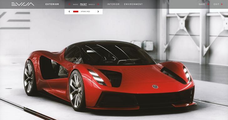 用 3A 級遊戲引擎打造線上賞車體驗,LOTUS 為 Evija 開發觸控式數位虛擬配置平台