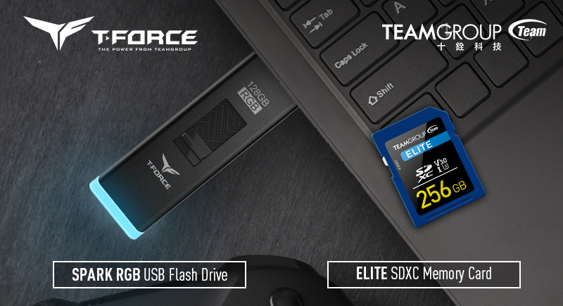 十銓科技推出T-FORCE SPARK RGB隨身碟及ELITE SDXC 4K高畫質記憶卡  美學科技智慧結合 賦予儲存生活新樣貌