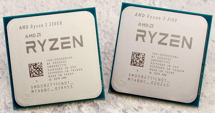 完善 Zen 2 微架構處理器產品線,AMD Ryzen 3 3300X、Ryzen 3 3100 測試