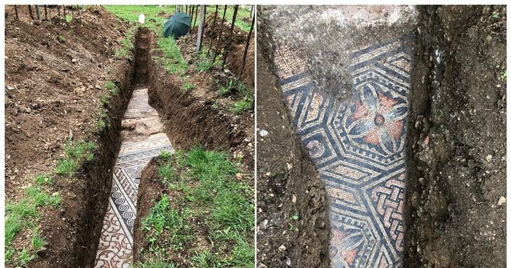 義大利葡萄園地底挖出「一千年前的馬賽克」,考古學家花了一世紀才終於找到