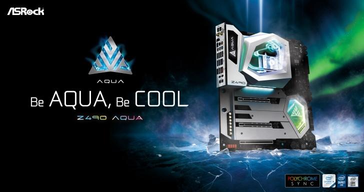 ASRock旗艦水冷主機板再升級,Z490 Aqua還有OLED小螢幕