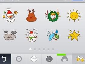 Line 伺服器已修復,追加更新聖誕節版新可愛圖示