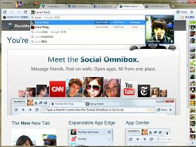 RockMelt Beta 5:用網址列直接找 Facebook 朋友、安裝 App