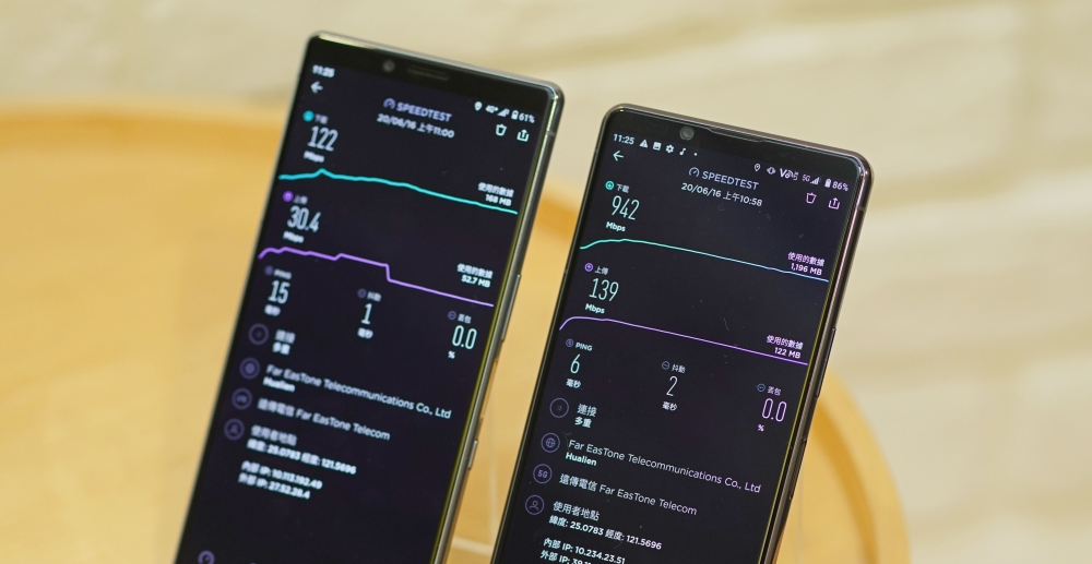 5G 網路有多快?開台前用5G手機實測4G、5G網路上傳、下載速度比較給你看
