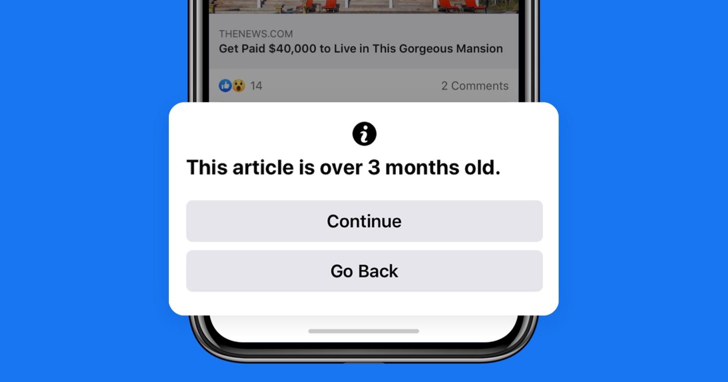 幫你分辨舊資訊,Facebook 推出 90 天前新聞通知,減少資訊混亂問題