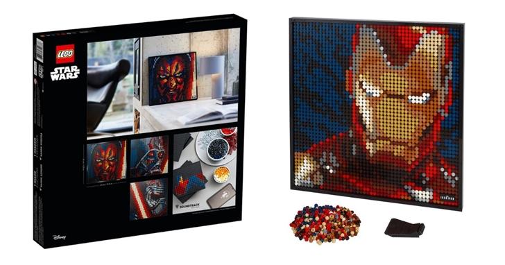 星戰迷、鋼鐵粉必收!樂高 LEGO 推出一系列可組裝的「積木壁畫」,8/1 正式發售、每套 120 美元