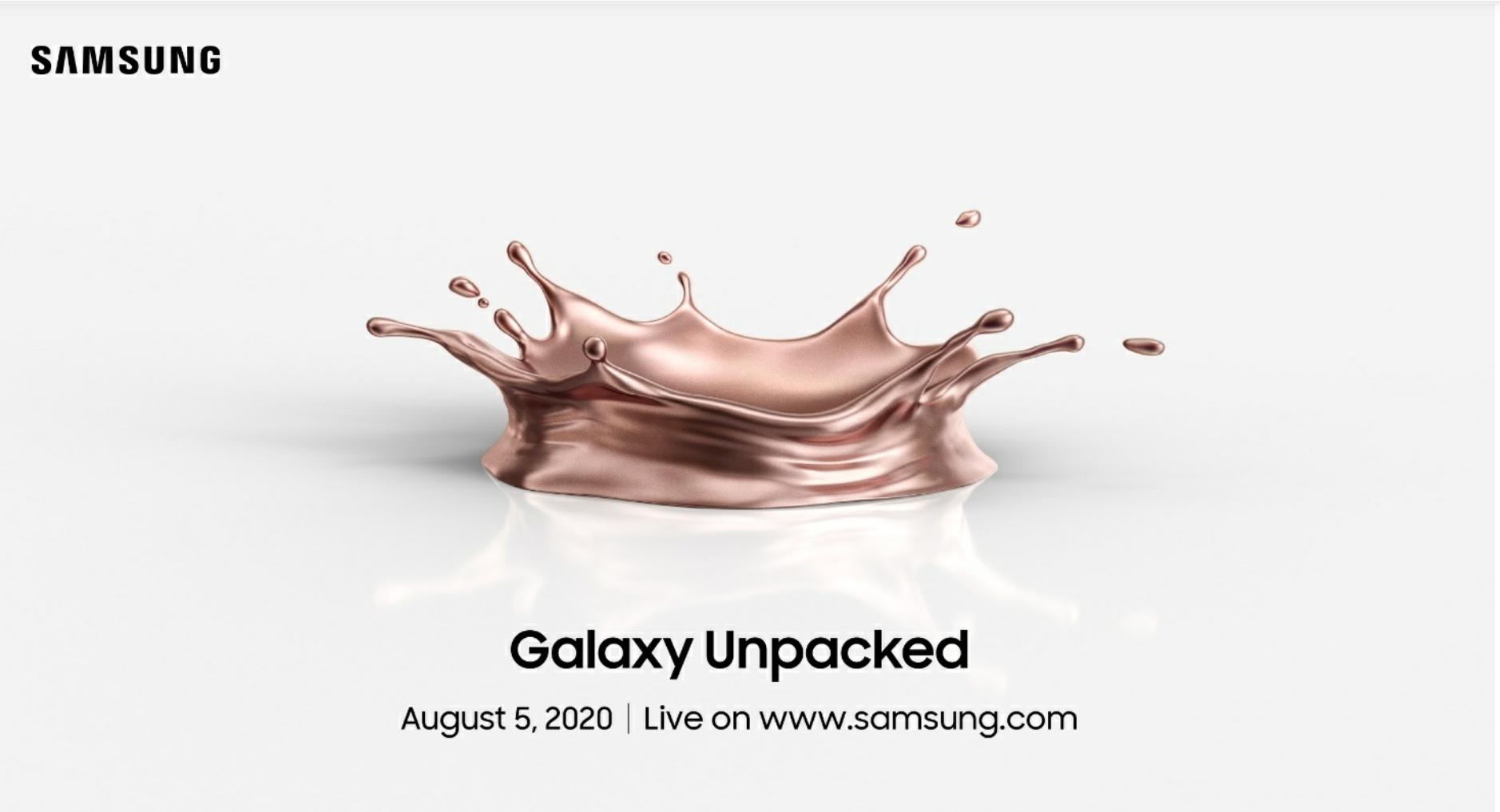 三星發出 Galaxy Unpacked 邀請函!Note 20 即將在 8/5 現身