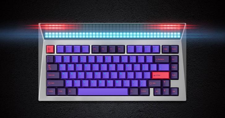 AngryMiao Cyberboard機械鍵盤超有事,200個賽博龐克LED任你擺佈