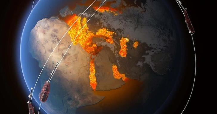 NASA發現地球磁場出現奇怪的「塌陷」, 衛星如果經過上空可能會導致損毀