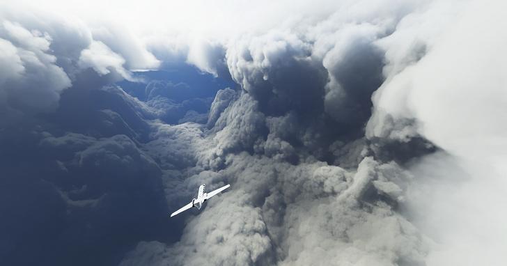 在《微軟模擬飛行》中將飛機開進颶風之中,成了玩家的新樂趣