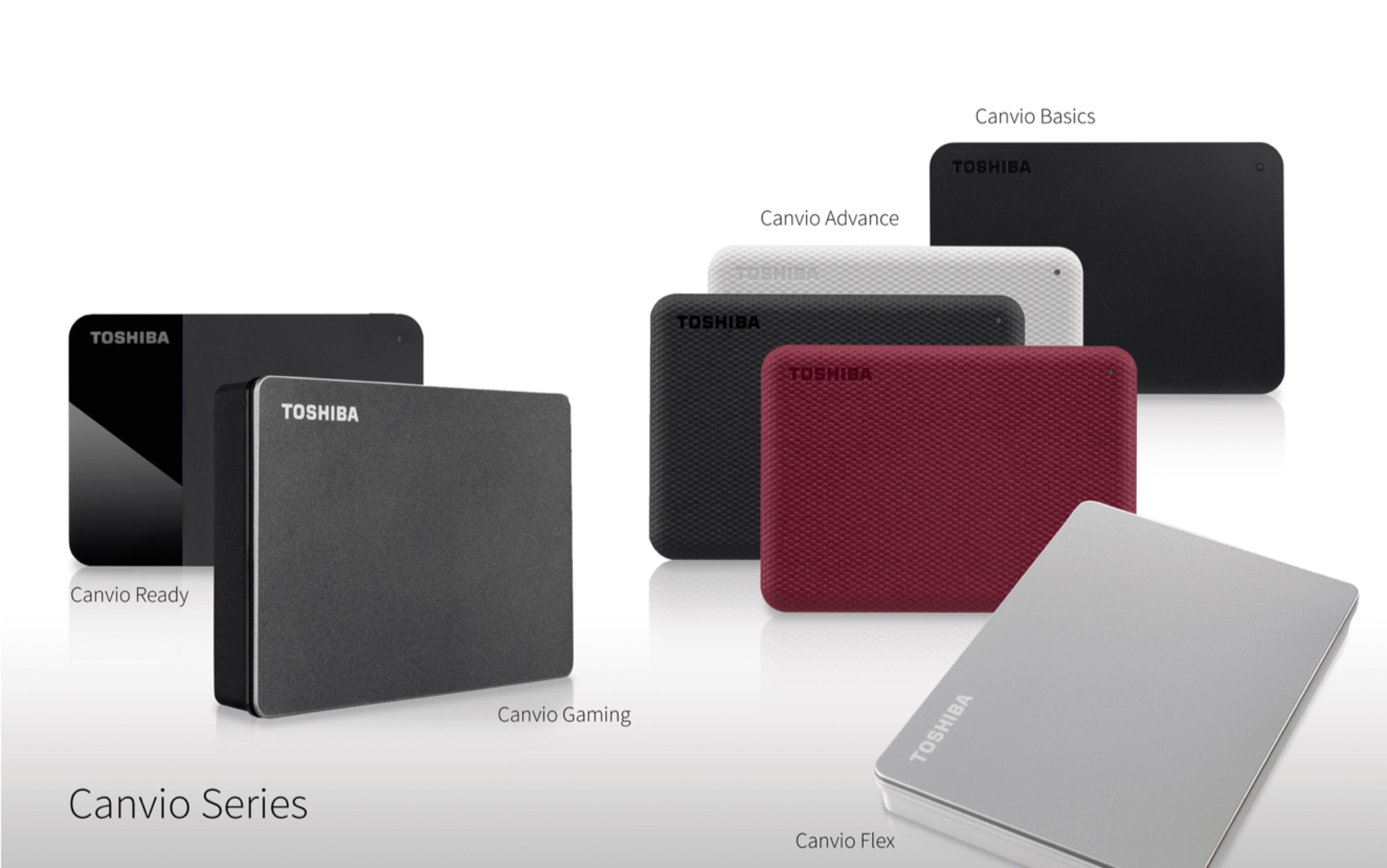 TOSHIBA Canvio系列外接儲存裝置再添生力軍 發表全新外型設計與應用軟體
