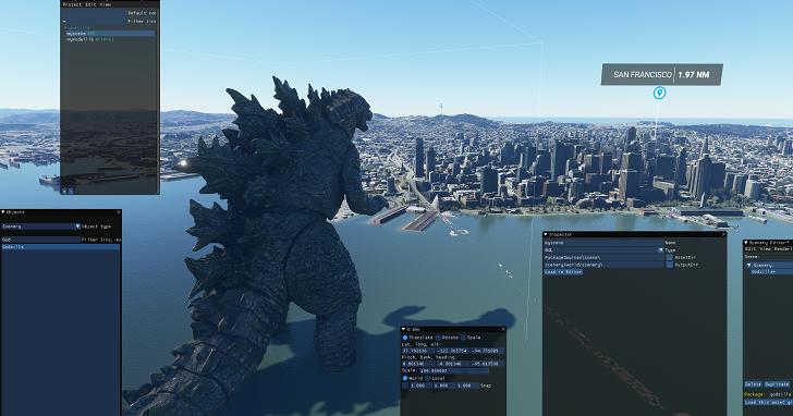 哥吉拉現身《微軟模擬飛行》?!裝上這個 MOD 就能飛越怪獸之王