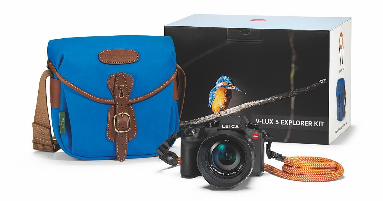 徠卡推出 Leica V-Lux 5 探險家套裝,內含經典皇家藍白金漢包