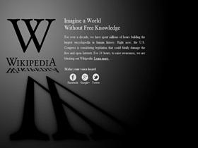 抗議 SOPA 法案,維基百科關閉一天,Google 要放抗議 Doodle