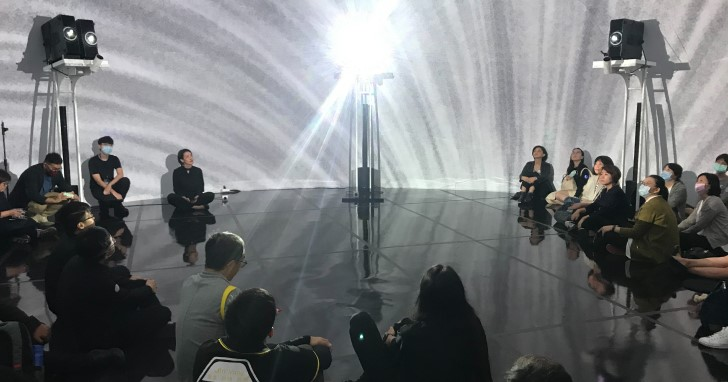 「FUTURE VISION LAB」 360度沉浸式環景投影震撼登場 C-LAB攜手奧圖碼 打造實驗性前瞻科技視覺影像