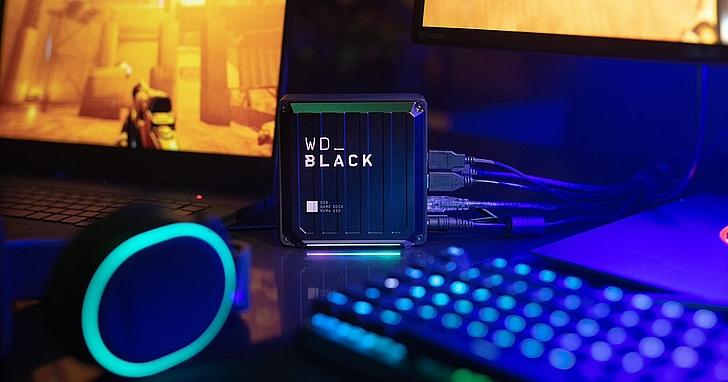 WD_BLACK 系列發表新品,包括 PCIe Gen4 NVMe SSD 以及 Game Dock 設備,專為遊戲而設計