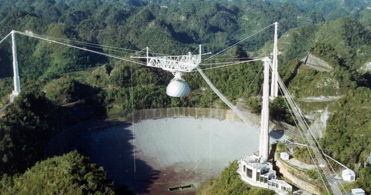 世界第二大的阿雷西博無線電波望遠鏡因損壞嚴重,宣告結束57年來的任務準備拆除