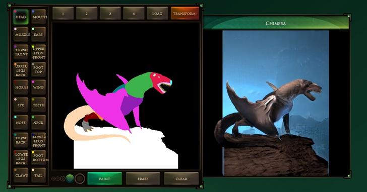 Google發布「怪獸產生器」!你畫草圖,GAN幫你繪成幻想生物