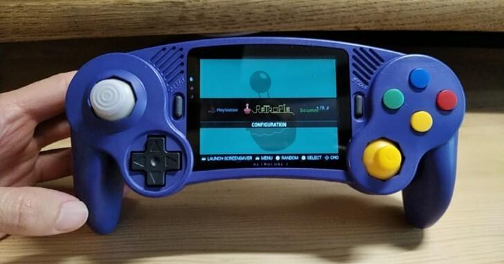 RetroBlock 2土砲掌上型主機搭載GameCube風格控制器