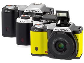 Pentax K-01小單眼,搭配 K-Mount 鏡頭接口,趣味發表