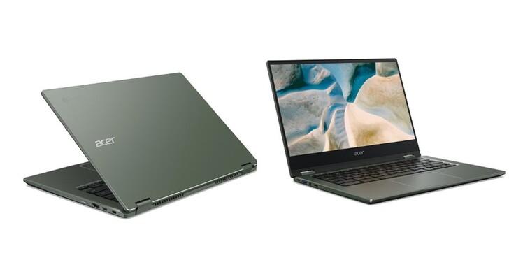 Acer Chromebook Spin 514 搭載 AMD Ryzen 處理器