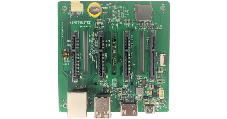Wiretrustee推出Raspberry Pi 4運算模組擴充板,最多可連接4組SATA硬碟