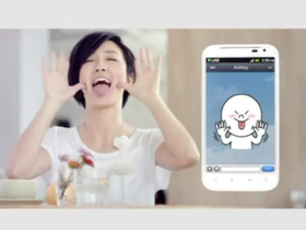 Line app 火力全開,找桂綸鎂來代言廣告,還有可愛公仔