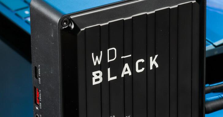 Western Digital WD_BLACK D50黑標外接硬碟開箱評測,內建 NVMe SSD 的高速擴充基座