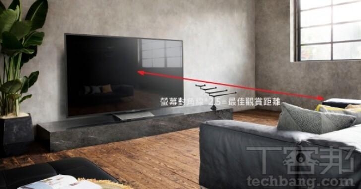 如何決定買幾吋的液晶電視:電視尺寸怎麼量、如何算出最佳觀賞距離?