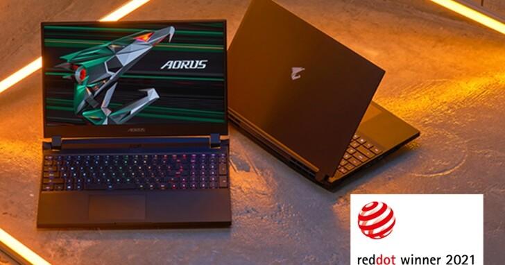 玩、創皆贏!技嘉全系列筆電勇奪2021德國紅點設計大獎
