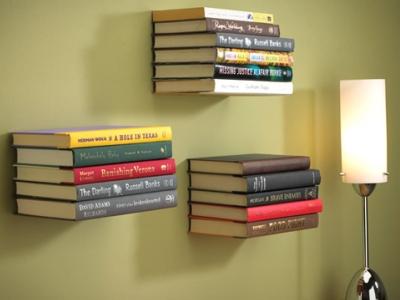 漂浮在牆上的書!其實它是書架,這個設計是怎麼做到的