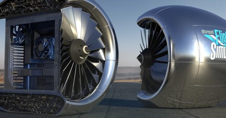 微軟打造擬真版「飛機引擎」PC 機殼,你的電競主機準備起飛!