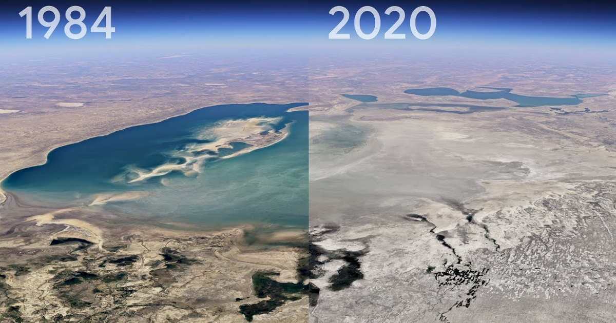 Google地球是一项重大升级,其3D延时功能可在指定位置立即观察到37年的延时变化  T客邦