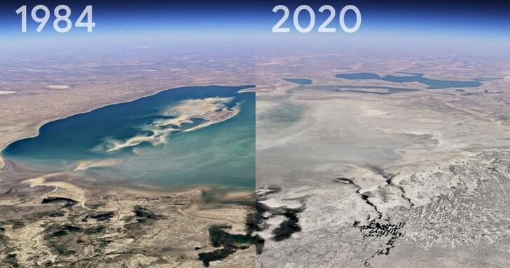 Google Earth重大更新,3D縮時功能一次看完指定地點 37 年縮時變化