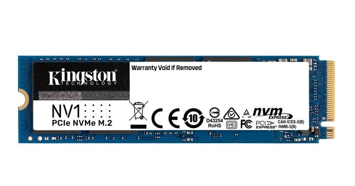 金士頓推出入門級NVMe固態硬碟NV1 SSD