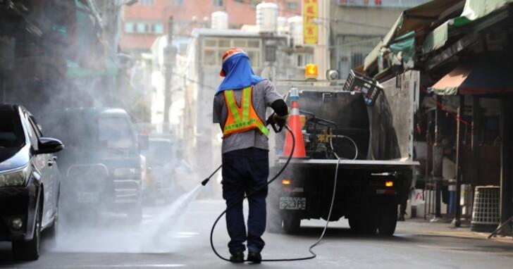 新北市今天十點開始,全市將實施「24小時大消毒」