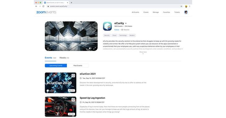 Zoom Events平台今夏登場,實現虛擬活動的無限可能