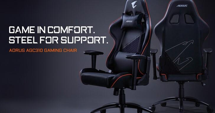 技嘉重磅推出AORUS AGC310專業電競賽車椅